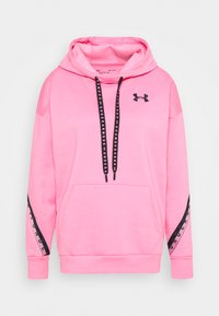 Under Armour - FLEECE HOODIE TAPED WM - Jersey con capucha - lipstick/black - 5