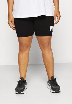 LOGO SHORT PLUS - Leggings - black