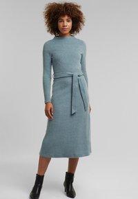 Esprit Collection - Gebreide jurk - grey blue - 1
