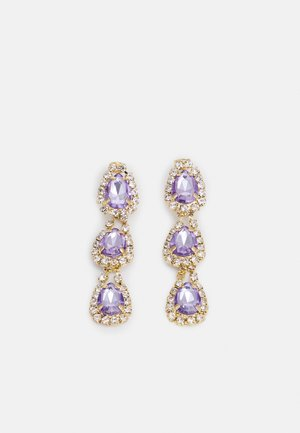 FPPARLINA GOLD PLATED GEMSTONES DROP EARRINGS ZAL - Earrings - gold-coloured