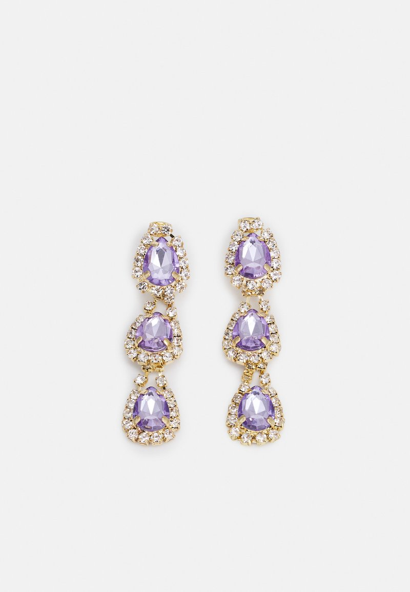Pieces - FPPARLINA GOLD PLATED GEMSTONES DROP EARRINGS ZAL - Øredobber - gold-coloured