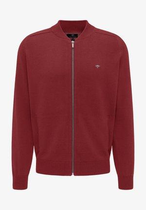 Zip-up hoodie - scarlet