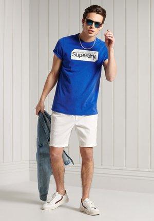 LOGO TAG - Print T-shirt - mazarine blue