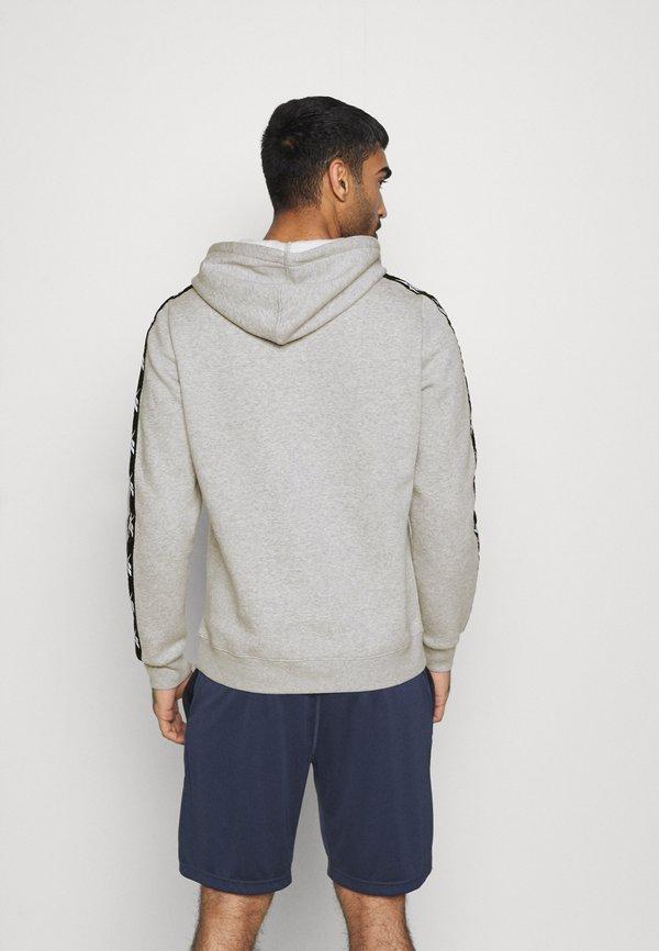 Reebok TAPE HOODIE - Bluza z kapturem - grey/szary Odzież Męska CRPL
