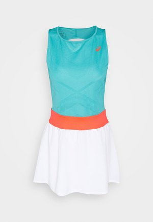 TENNIS DRESS - Jerseykjoler - techno cyan