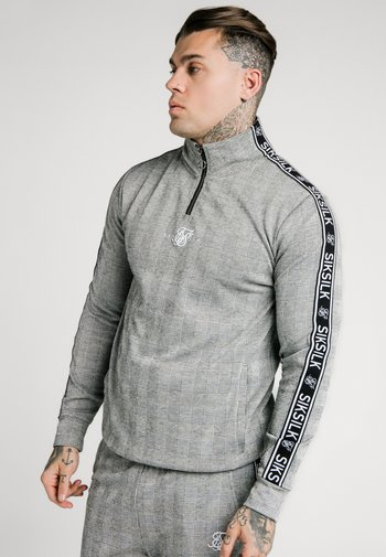 TOOTH CHECK QUARTER ZIP FUNNEL NECK