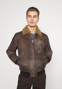 Schott - LCDAKOTA - Leather jacket - brown - 0