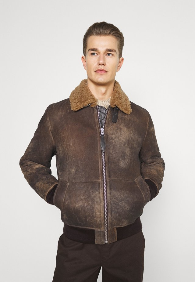 LCDAKOTA - Leather jacket - brown