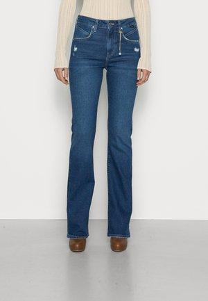 MARIA - Jeans bootcut - dark blue denim