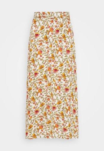 ONLBELLIS MID CALF SKIRT - A-line skirt - creme brûlée/arizona