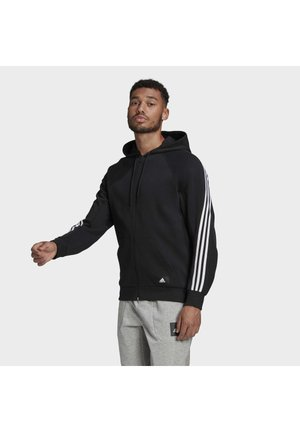 FI FULL ZIP HOOD BD MUST HAVES SPORTS REGULAR TRACK TOP HOODIE - veste en sweat zippée - black