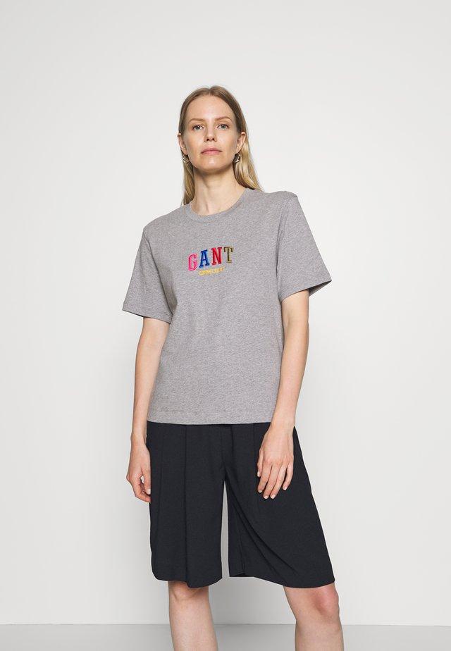 GRAPHIC TEE - T-shirt imprimé - grey melange