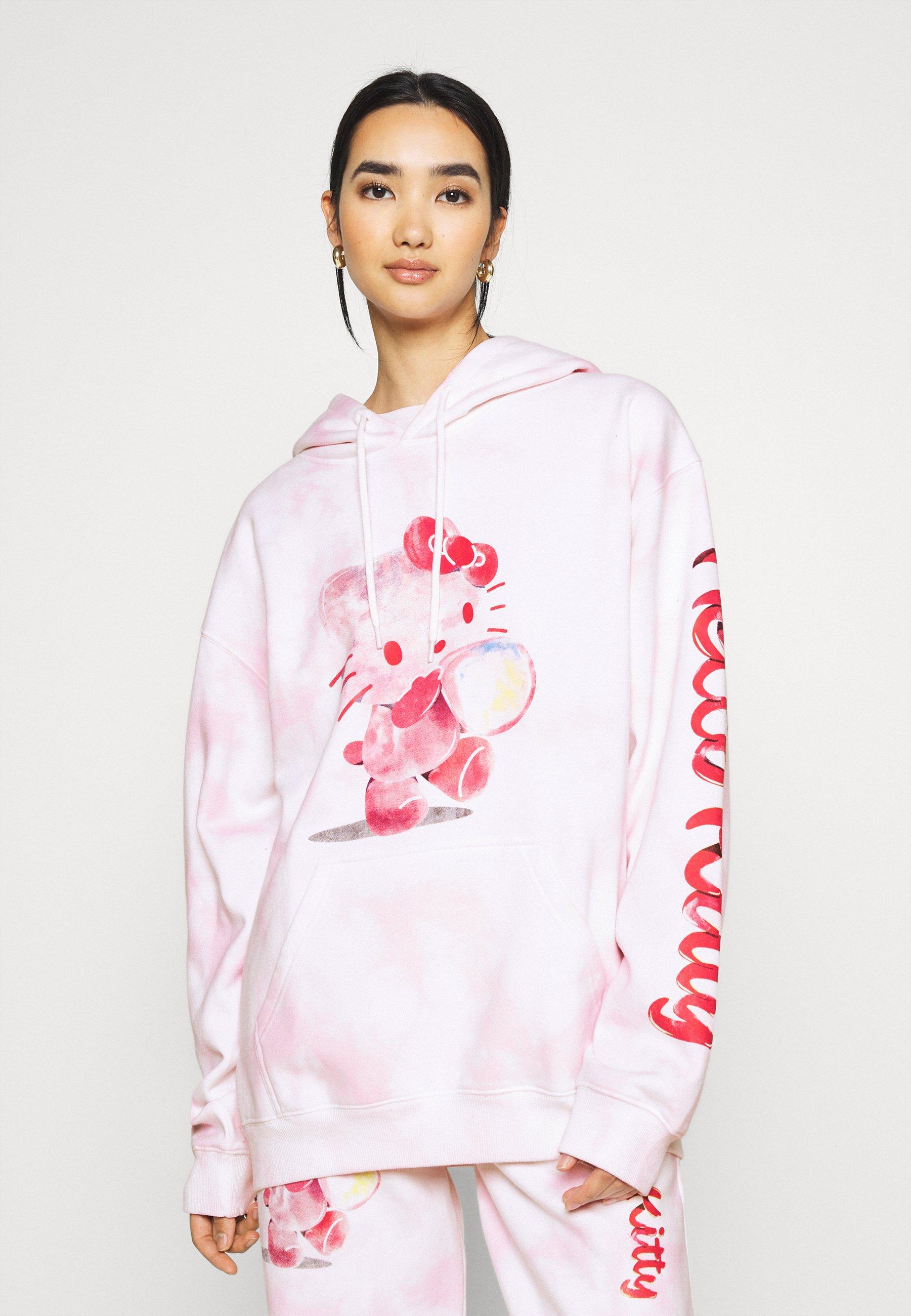 Women HELLO BUBBLE TIE DYE HOODIE - Sweatshirt