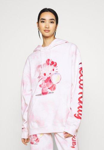 HELLO BUBBLE TIE DYE HOODIE - Sweatshirt - pink