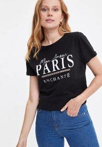 DeFacto - T-shirt print - black - 2