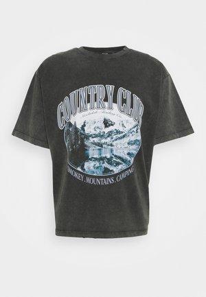 WASHED BLACK COUNTRY CLUB  - T-shirts print - black