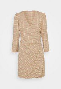 ABITO CREPE - Shift dress - beige/yellow