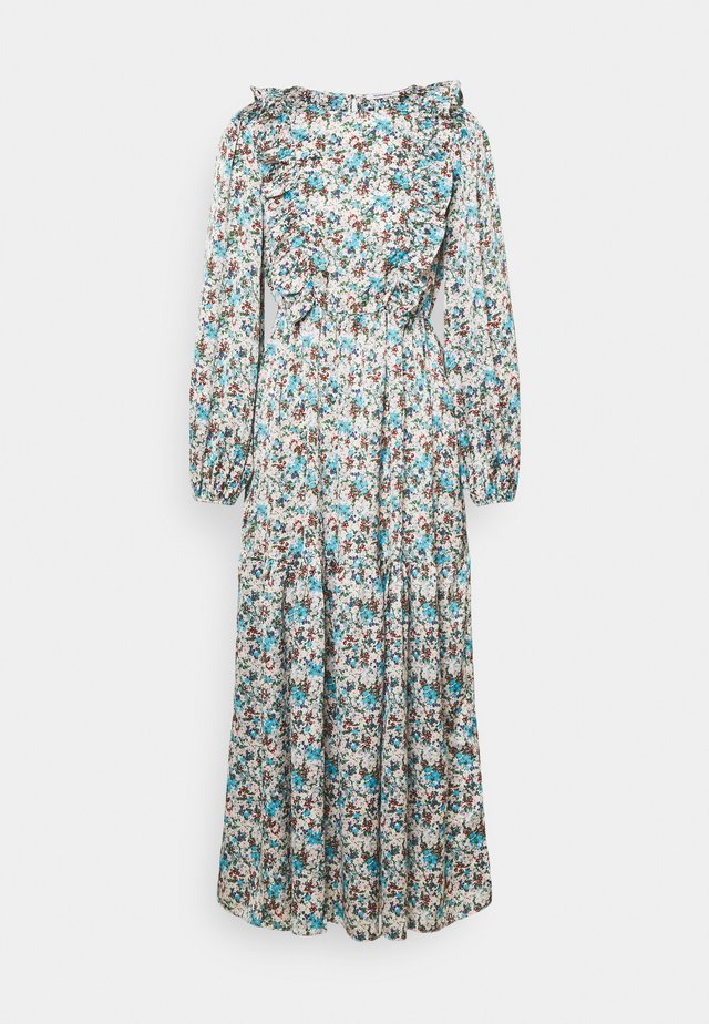 RUFFLE SHOULDER MIDAXI DRESS WITH PUFF LONG SLEEVES  - Day dress - confetti