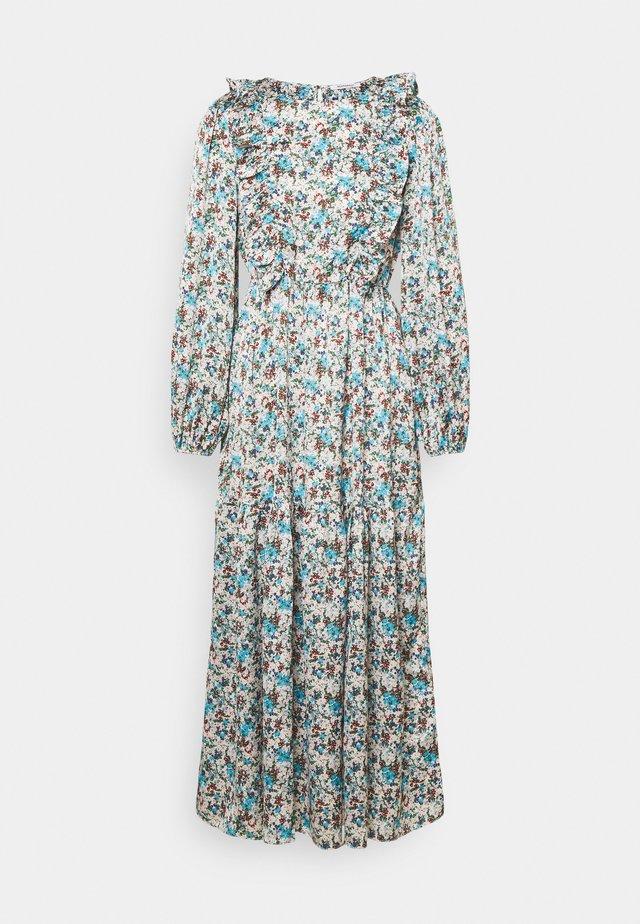 RUFFLE SHOULDER MIDAXI DRESS WITH PUFF LONG SLEEVES  - Korte jurk - confetti