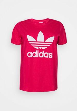 TREFOIL TEE - T-shirts med print - power pink/white
