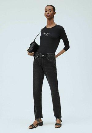 MABLE SPLIT - Straight leg jeans - denim