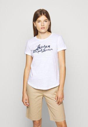 INDIE SLUB - Printtipaita - white