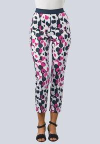 Alba Moda - Trousers - wollweiß,pink,marineblau - 0