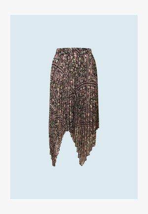 MALIKA - A-line skirt - black/light pink