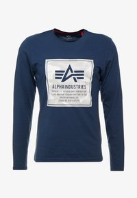 Alpha Industries - CAMO BLOCK  - T-shirt à manches longues - new navy - 4