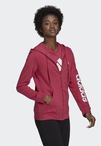 adidas Performance - W LIN FT FZ HD - Felpa aperta - pink - 2