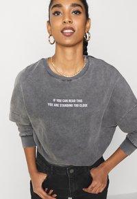 Even&Odd - Printed Oversized Sweatshirt - Sweatshirt - dark grey - 4
