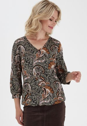 FRMELEO - Camiseta de manga larga - black paisley mix