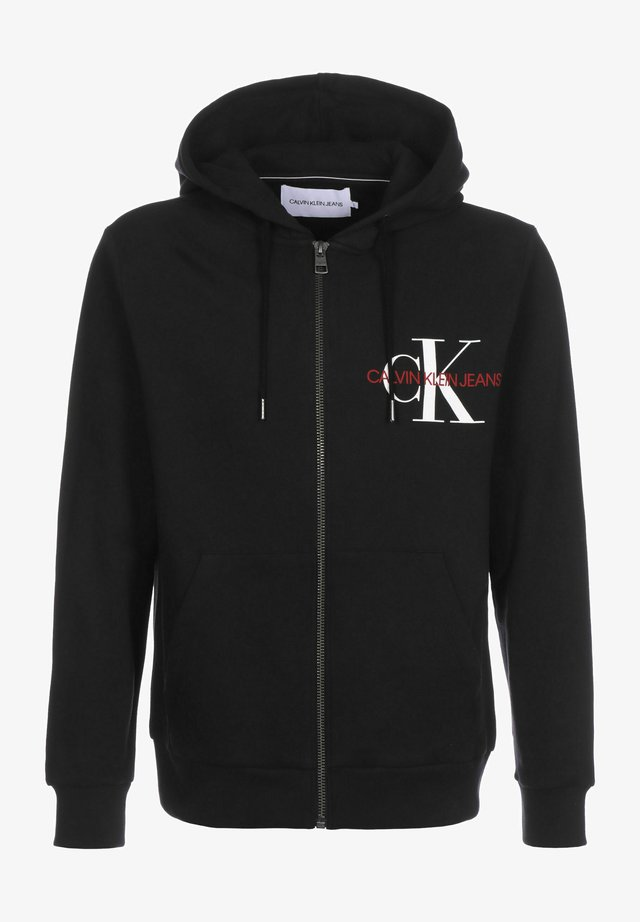 MONOGRAM - Zip-up hoodie - ck black