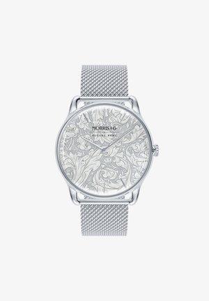 UHR MORRIS & CO SILVER BACHELORS BUTTON MESH 38MM - Horloge - white