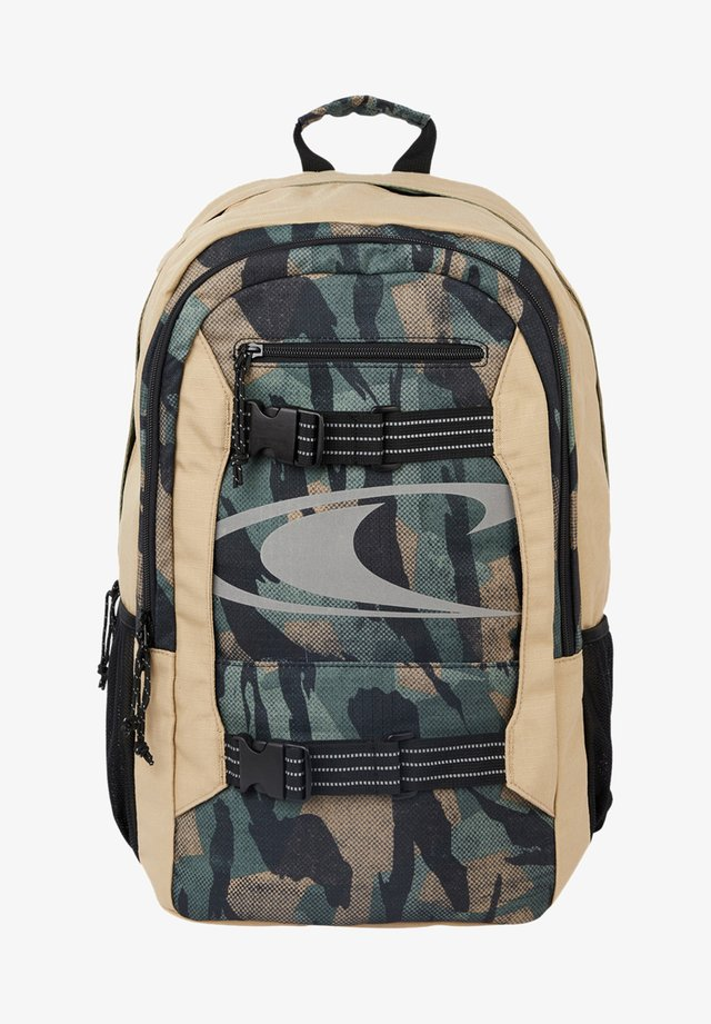 BOARDER BACKPACK - Rugzak - green aop w/black