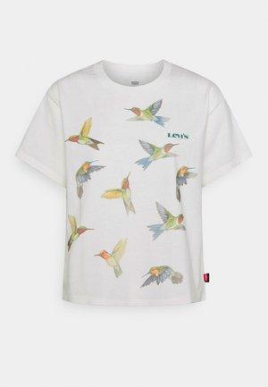 GRAPHIC VARSITY TEE - Print T-shirt - white