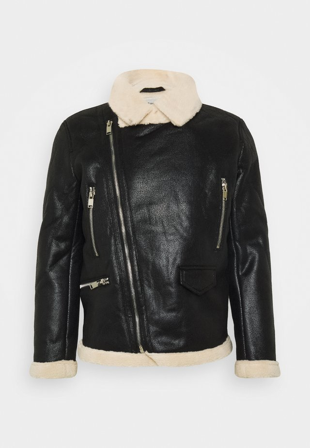 AVIATOR JACKET - Giacca in similpelle - black