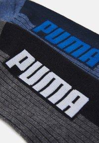 Puma - CUSHIONED QUARTER 4 PACK UNISEX - Calcetines de deporte - black/blue - 1