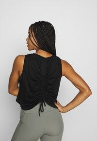 Cotton On Body - ACTIVE ROUCHED MUSCLE TANK - Topper - black - 2