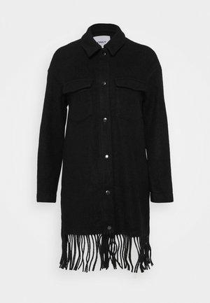 ONLERIKA CARO FRINGE SHACKET  - Classic coat - black