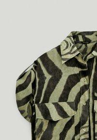 Massimo Dutti - Button-down blouse - khaki - 4