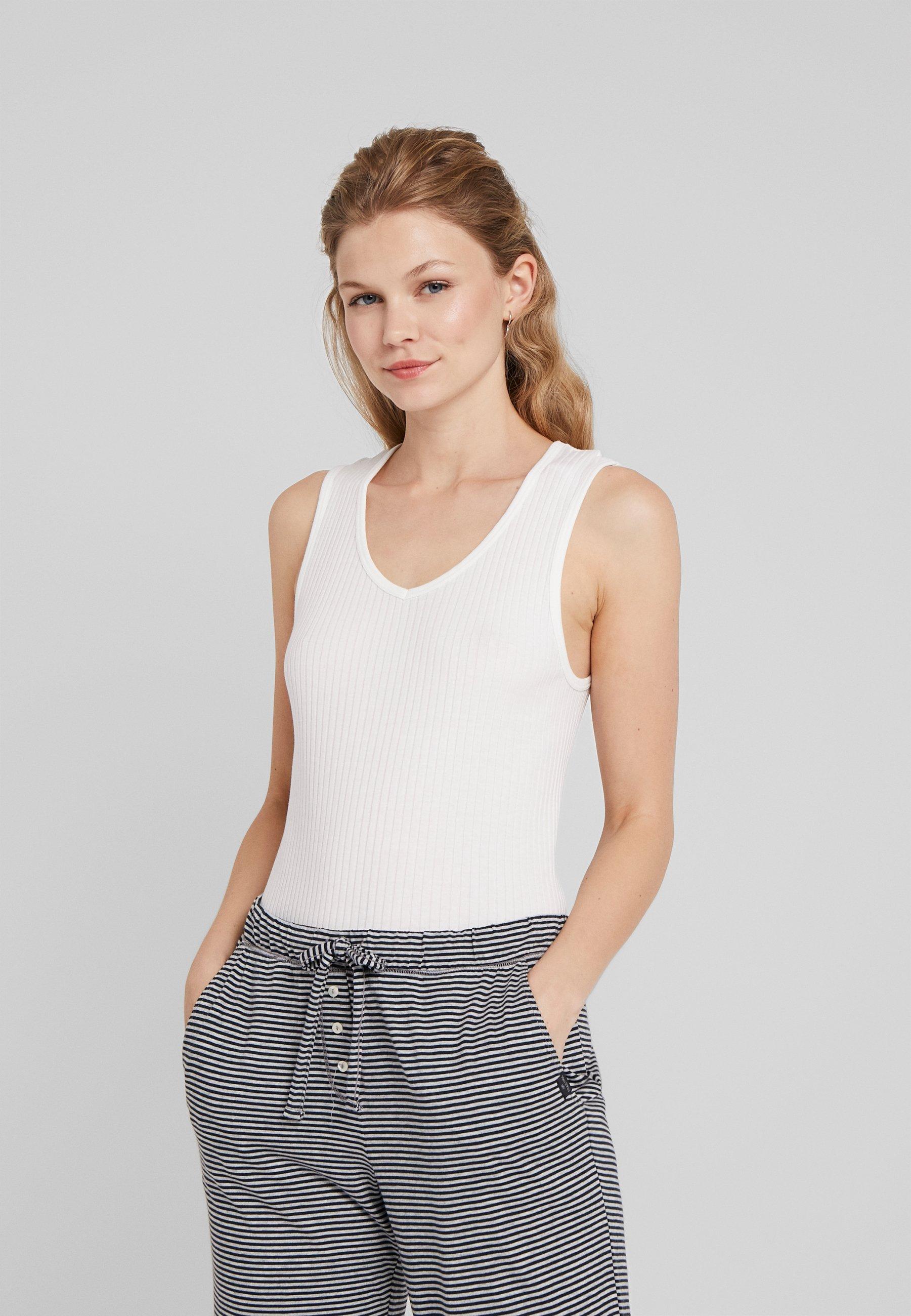 Intimo da donna Marc O'Polo TOP V NECK Maglia del pigiama off white