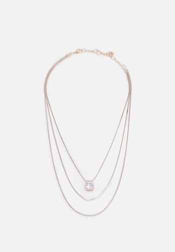 FROIMMA - Necklace - rose gold-coloured/clear