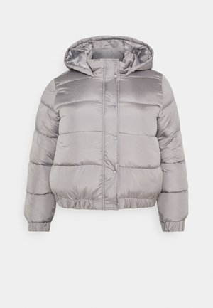 HOODED PUFFER JACKET - Winter jacket - grey