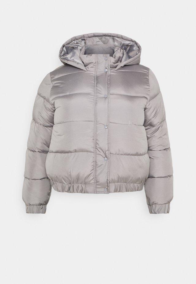 HOODED PUFFER JACKET - Chaqueta de invierno - grey