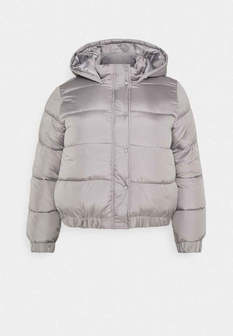 Missguided Plus - HOODED PUFFER JACKET - Winter jacket - grey