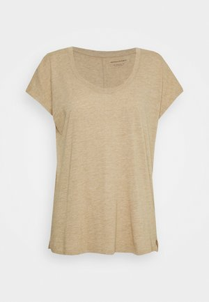 SCOOPNECK TEE - Basic T-shirt - cool beige