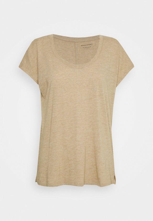SCOOPNECK TEE - T-shirt basic - cool beige