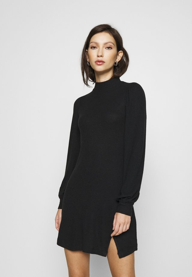 COZY SHORT DRESS - Jumper dress - black