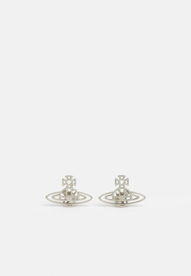 THIN LINES FLAT ORB STUD EARRINGS - Orecchini - silver-coloured